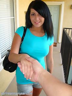 schoolgirl in shorts