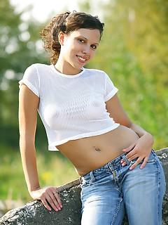 brunette schoolgirl